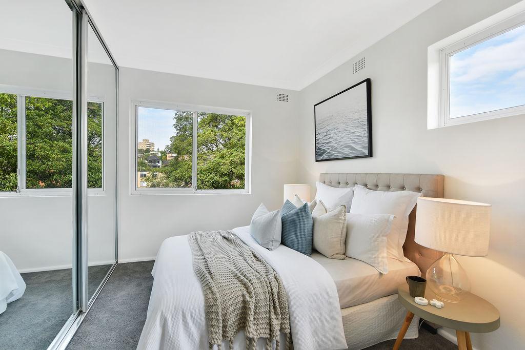 Apartment renovation in Mosman, bedroom