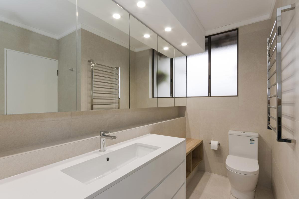 Apartment renovation Sydney Manly bathroom ensuite after photo renopack