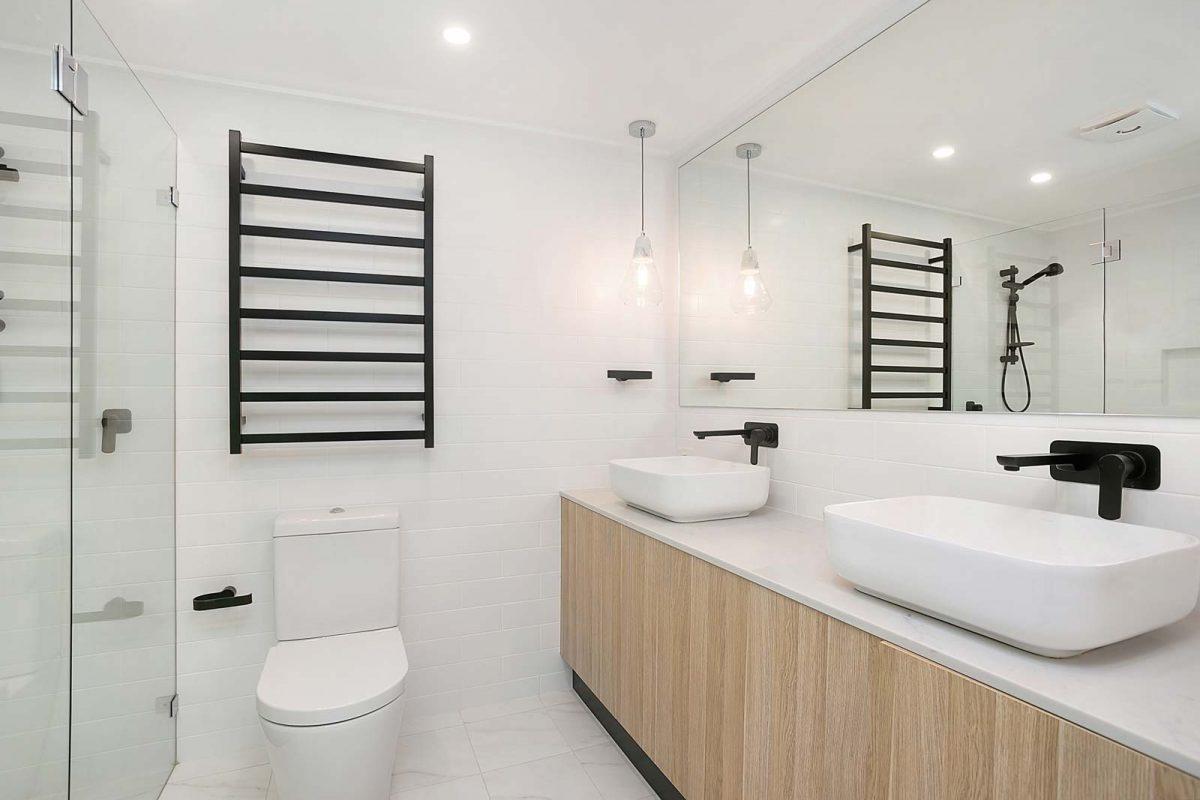 Apartment renovations Sydney Renopack smart stone cararra bathroom after photo