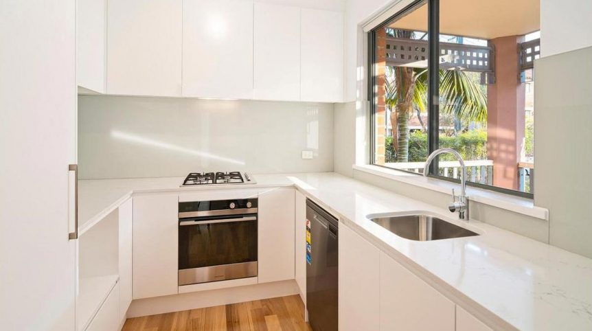 Apartment renovation Sydney Cremorne kitchen after