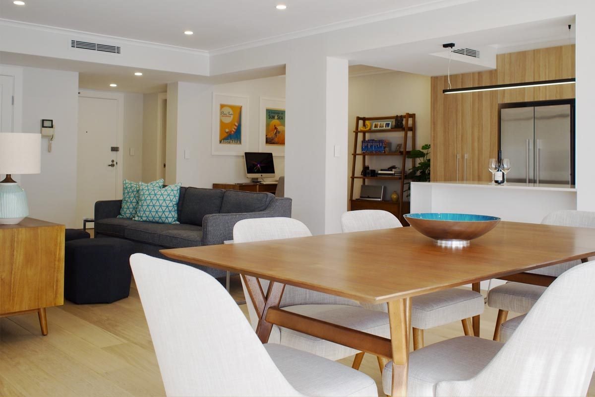 Apartment renovations Sydney Renopack smart stone cararra living room after photo
