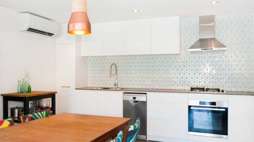 Caesarstone apartment kitchen renovation Sydney Waterloo Reno Pack