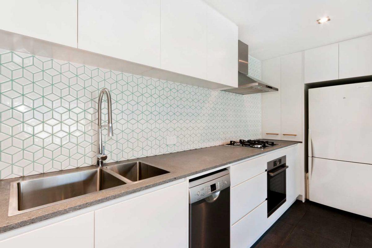 Caesarstone apartment kitchen renovation Sydney Waterloo Reno Pack
