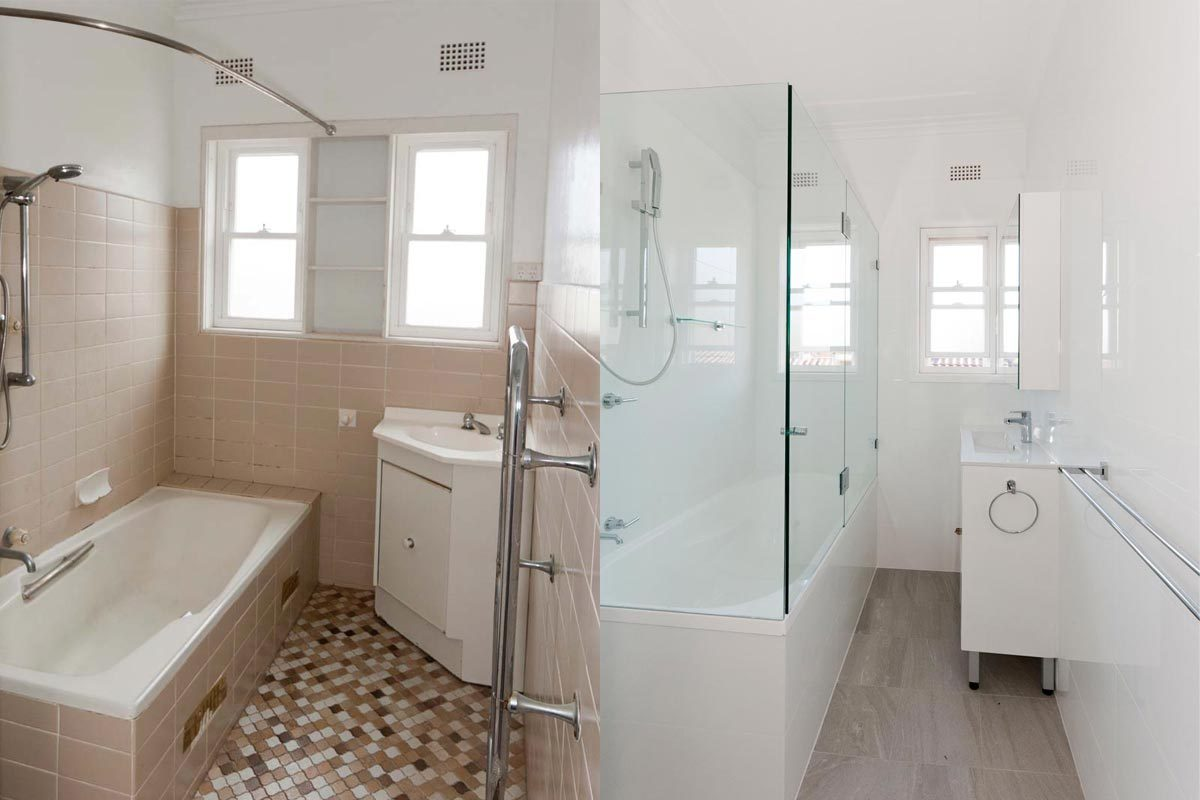 Apartment renovation Sydney, bathroom renovation Bellevue Hill before and after, by Reno Pack