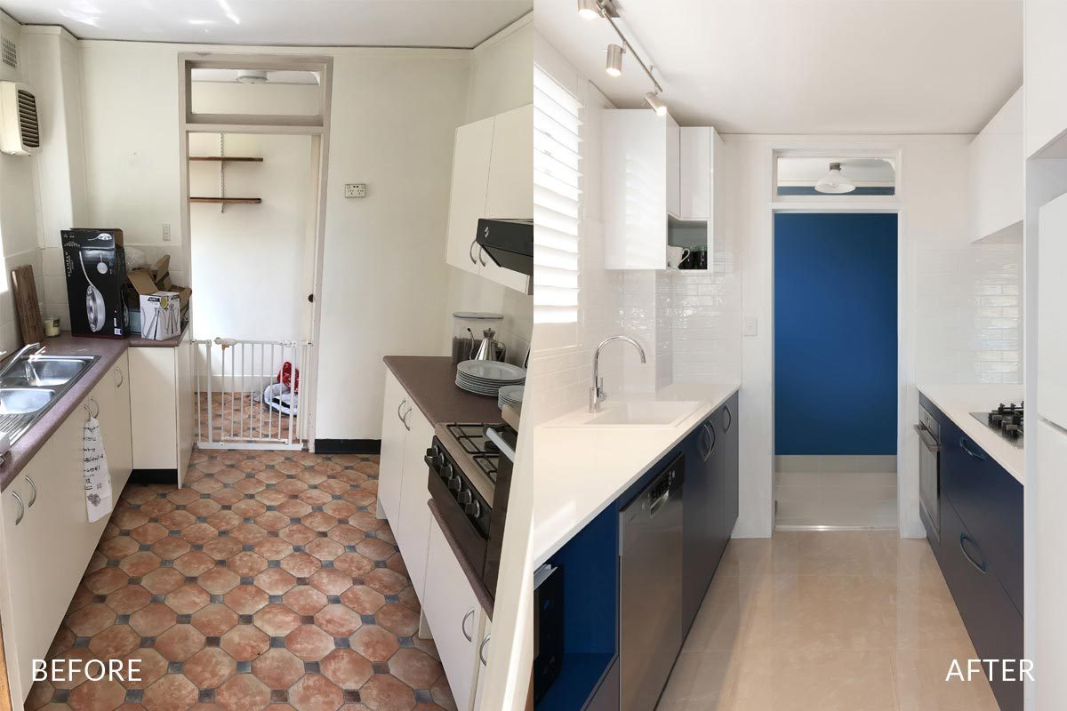 Apartment renovation Sydney unit renovation Chiswick kitchen before and after Reno Pack