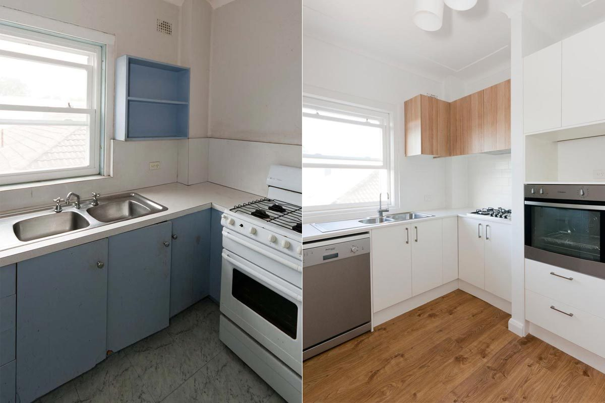 Apartment renovation Sydney, kitchen renovation Bellevue Hill before and after, by Reno Pack