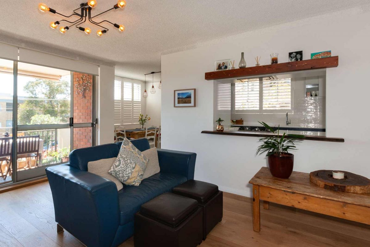 Apartment renovation Sydney unit renovation Chiswick living room Reno Pack