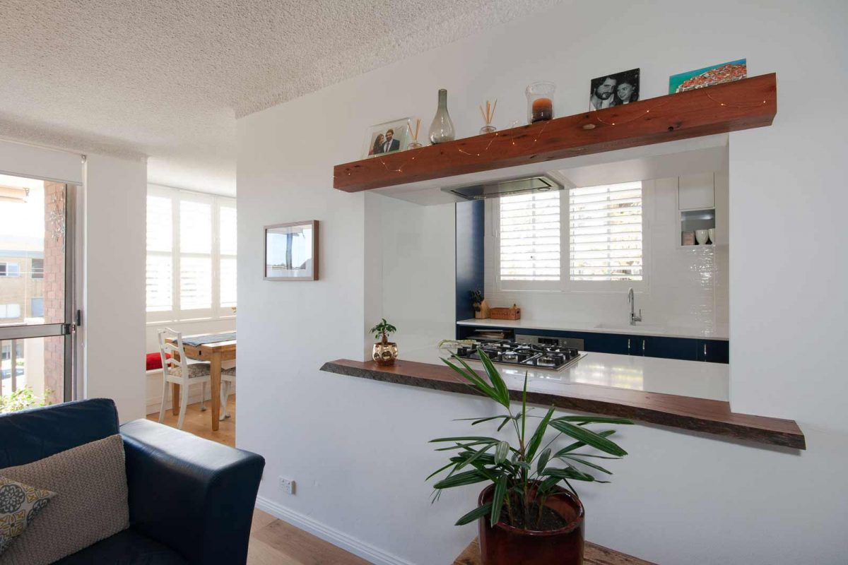 Apartment renovation Sydney unit renovation Chiswick wall opening Reno Pack