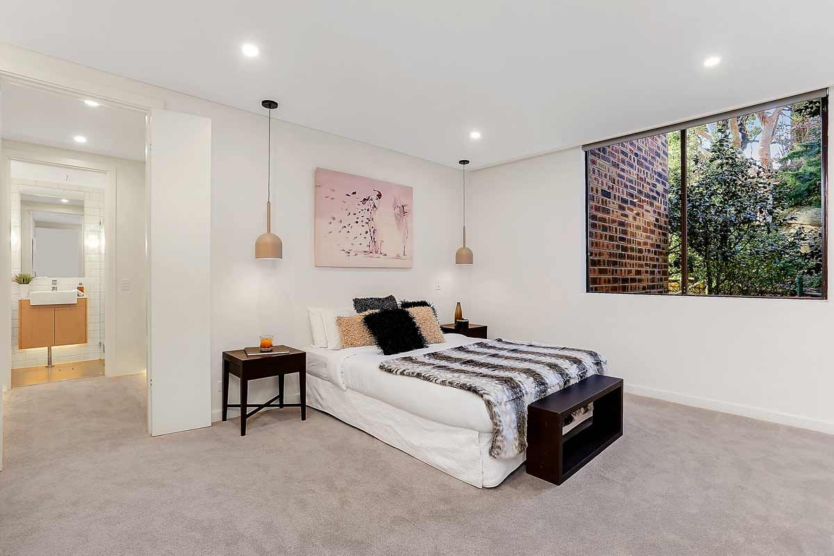 Apartment renovation Sydney unit renovation Neutral Bay bedroom by Reno Pack