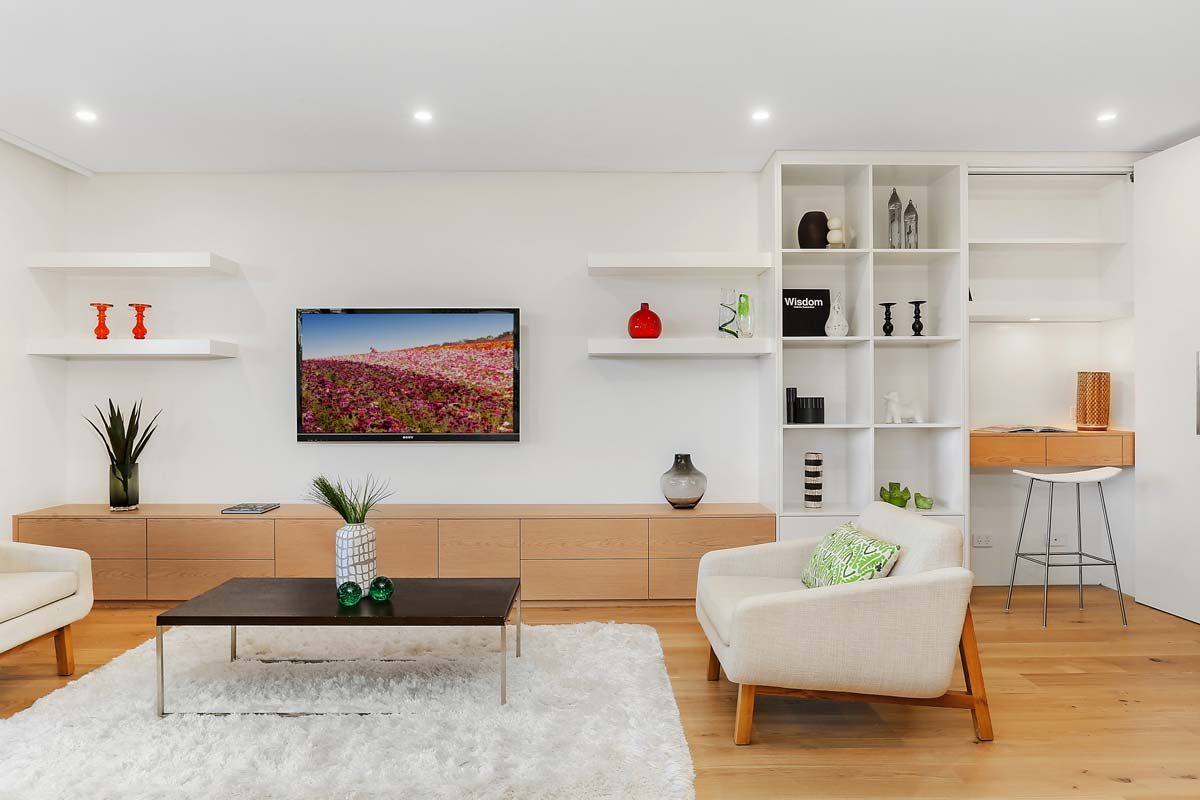 Apartment renovation Sydney unit renovation Neutral Bay living room by Reno Pack