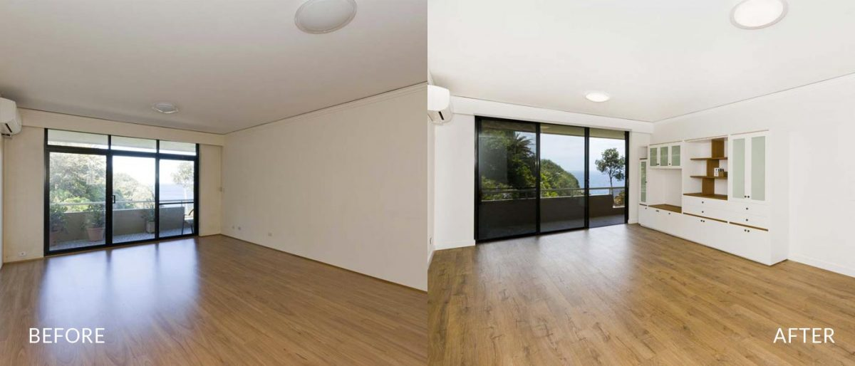 apartment renovation Sydney unit renovation Vaucluse living before after Reno Pack