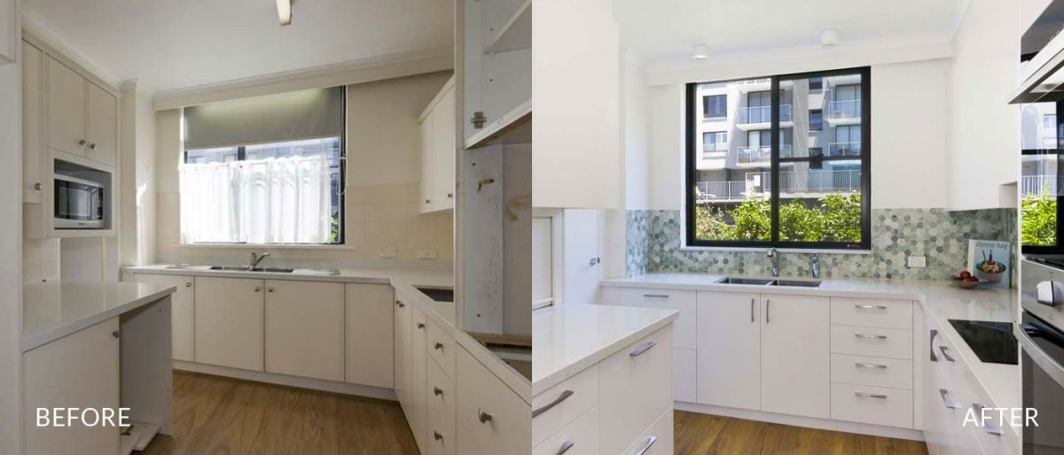 apartment renovation Sydney unit renovation Vaucluse kitchen before after Reno Pack