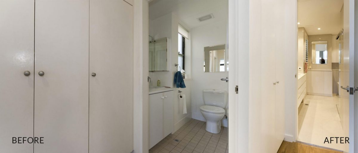 apartment renovation Sydney bathroom renovation Vaucluse before after Reno Pack