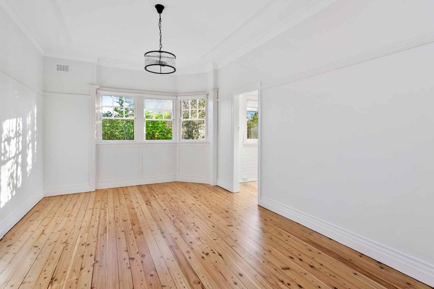 Apartment renovation in Fairlight, Sydney with polished timber floors