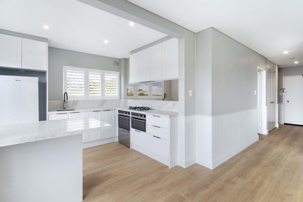 Apartment kitchen renovation Balmoral Sydney renovations Reno Pack